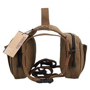 OneTigris-Cotton-Canvas-Dog-Pack-Hound-Travel-Camping-Hiking-Backpack-Saddle-Bag-Rucksack-for-Medium-Large-Dog-Dog-Pack-0-0