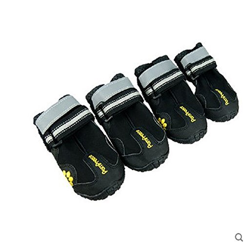 Qumy Dog Boots Waterproof Shoes For Large Dogs With