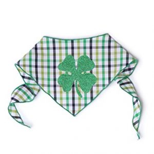 Tail-Trends-Green-Sparkles-Four-Leaf-Clover-Dog-Bandana-for-St-Patricks-Day-0-0